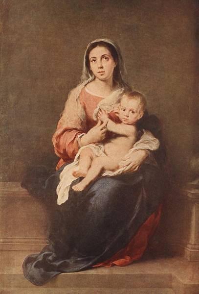 Murillo Madonna and Child c1670
